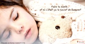 Le secret du bonheur ... la sieste